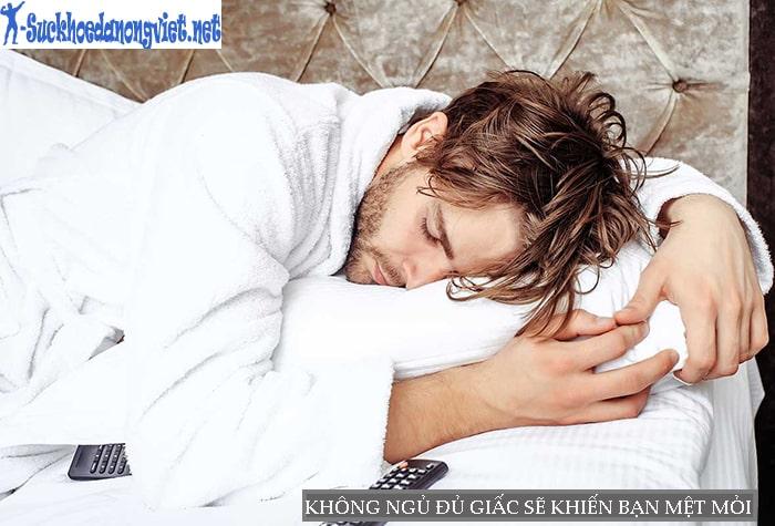 Không ngủ đủ giấc sẽ khiến bạn mệt mỏi và dễ bị stress