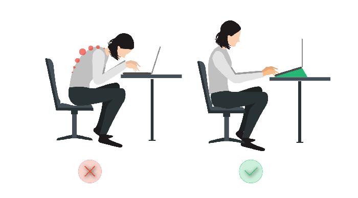 Ngồi đúng tư thế cũng giúp bảo vệ sức khỏe cho bạn