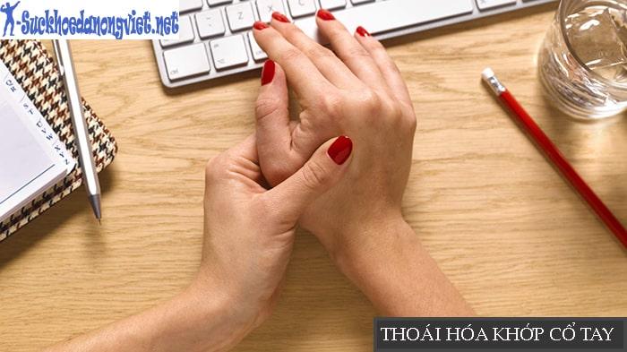 Gõ máy tính quá nhiều, quá lâu dễ dẫn đến thoái hóa khớp cổ tay