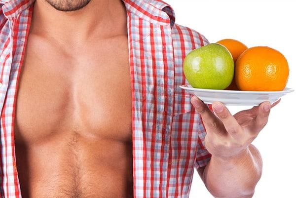 Trong chế độ ăn cho người tập gym muốn tăng cơ cần có rau xanh và hoa quả