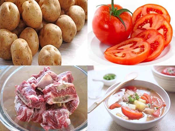 cách nấu canh khoai tây 1