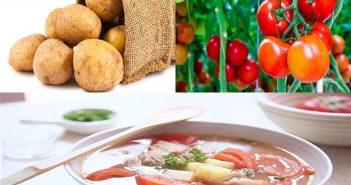 cách nấu canh khoai tây với cà chua