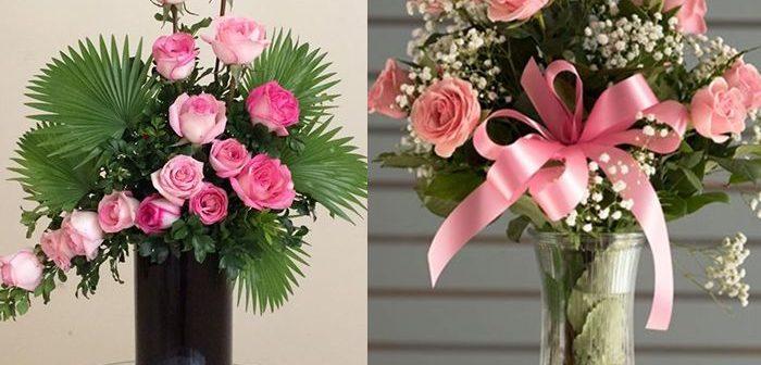 Bí kíp cắm hoa hồng vào lọ cổ cao