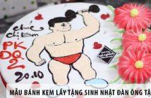 Những mẫu bánh kem lầy tặng sinh nhật đàn ông tập gym