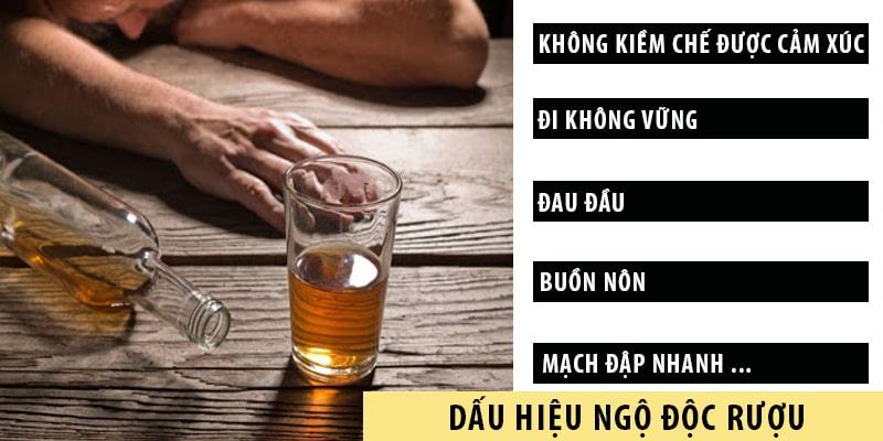 Dấu hiệu nhận biết ngộ độc do rượu giả