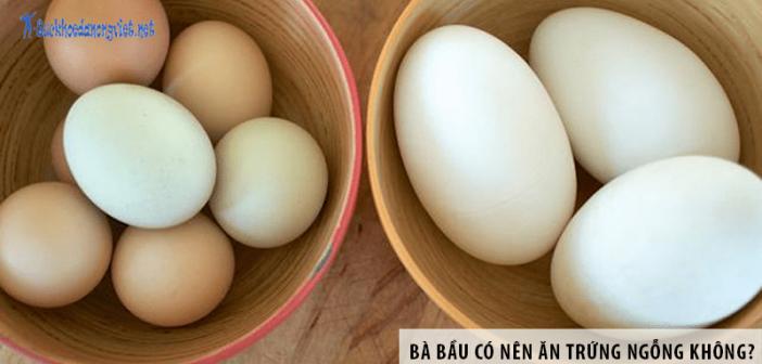 Bà bầu có nên ăn trứng ngỗng không?