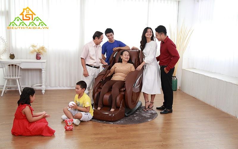 Ghế massage chăm sóc sức khỏe cho cả gia đình