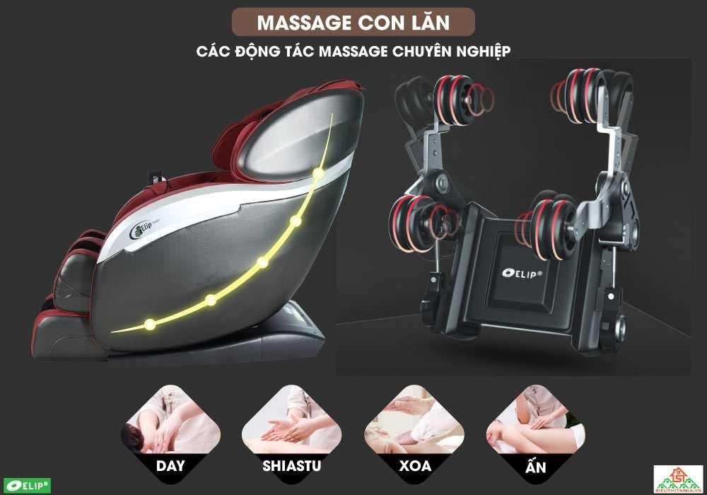 Ghế massage massage bằng con lăn