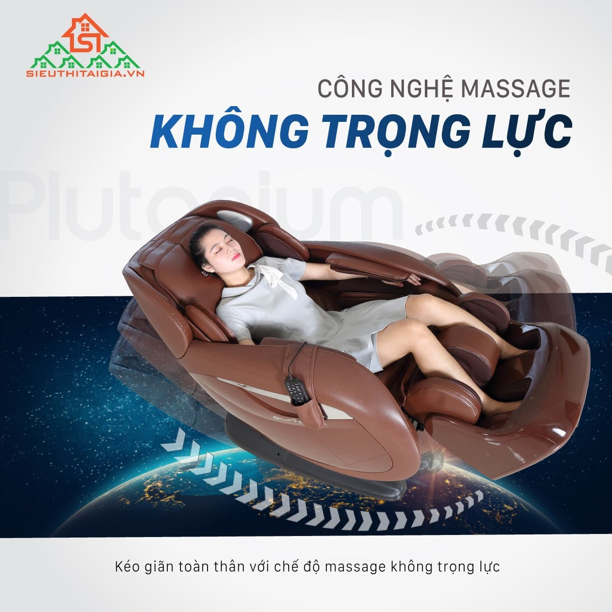 Ghế massage sở hữu công nghệ không trọng lực giúp bạn thư giãn toàn thân
